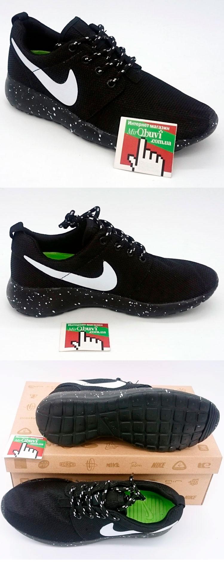 большое фото №5 Nike Roshe Run черная подошва в крапинку