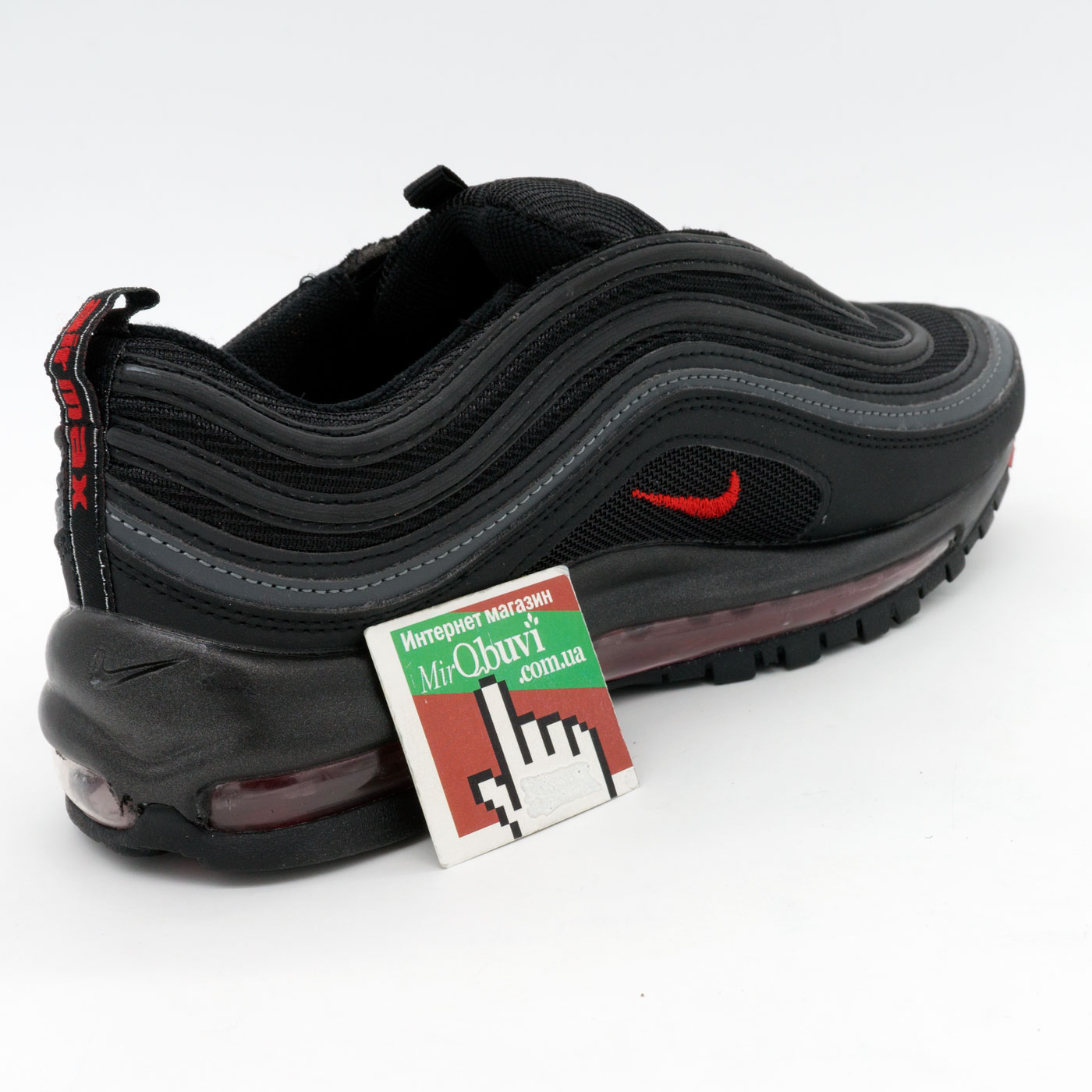 фото back Мужские кроссовки Nike air max 97 черные. Топ качество! back