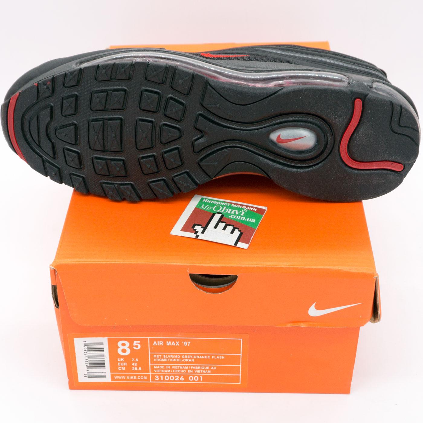 фото bottom Мужские кроссовки Nike air max 97 черные. Топ качество! bottom