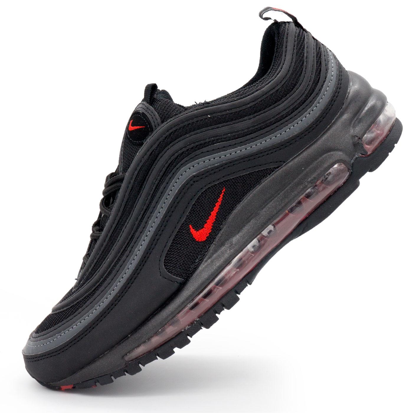 03e7a2ad Мужские кроссовки Nike air max 97 полностью черные - Топ качество ...