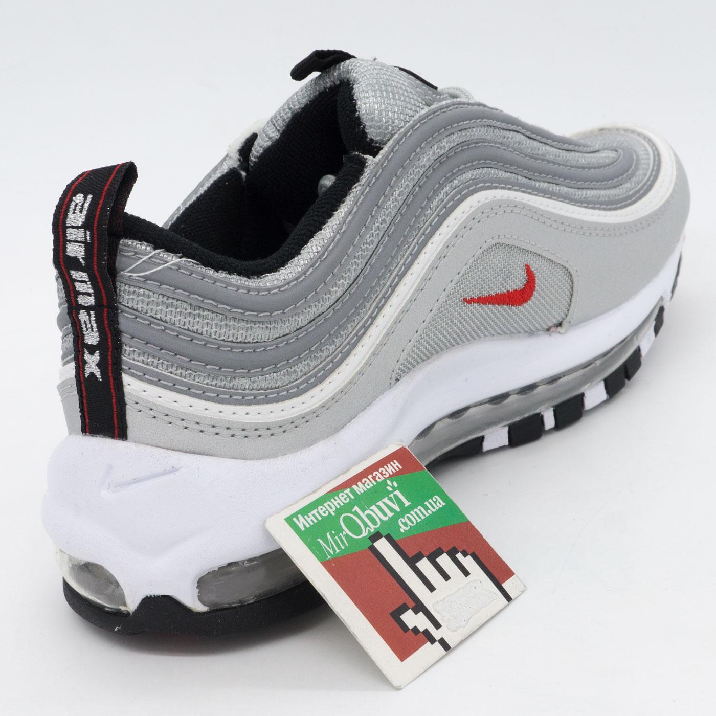 фото back Кроссовки Nike air max 97 серебристые. Топ качество! back