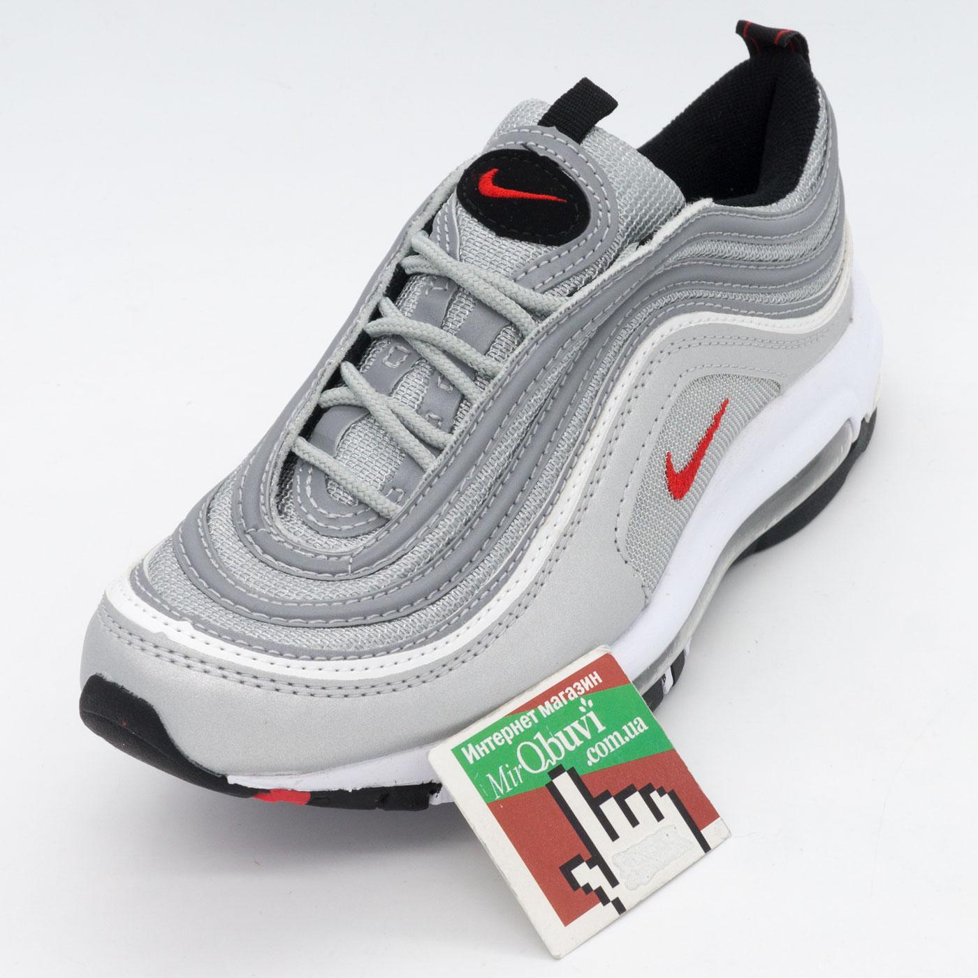 фото front Кроссовки Nike air max 97 серебристые. Топ качество! front