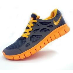 Кроссовки для бега Nike Free Run 2 Найк Фри Ран, серо-желтые