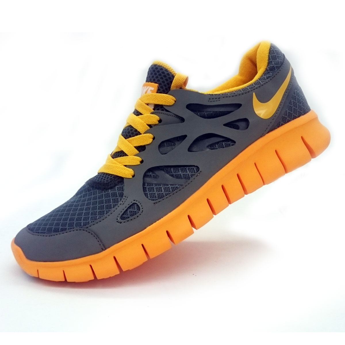 фото main Кроссовки для бега Nike Free Run 2 Найк Фри Ран, серо-желтые main