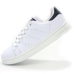 Женские кроссовки Adidas Stan Smith бело черные