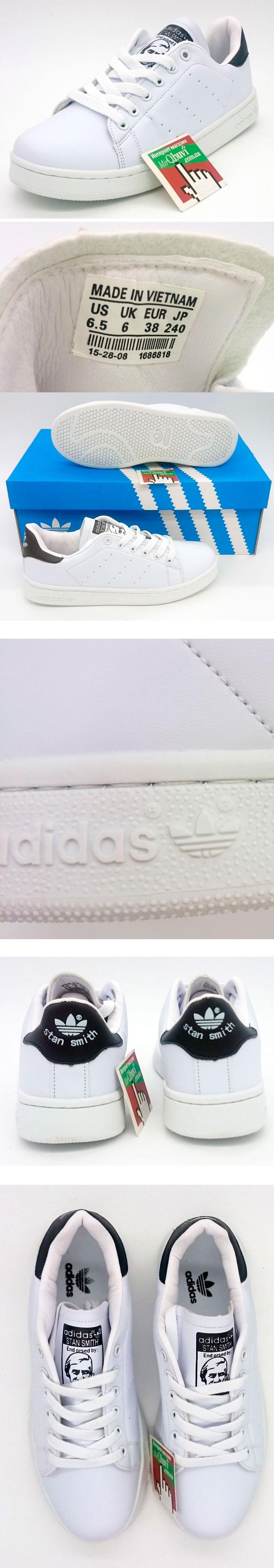 большое фото №5 Женские кроссовки Adidas Stan Smith бело черные