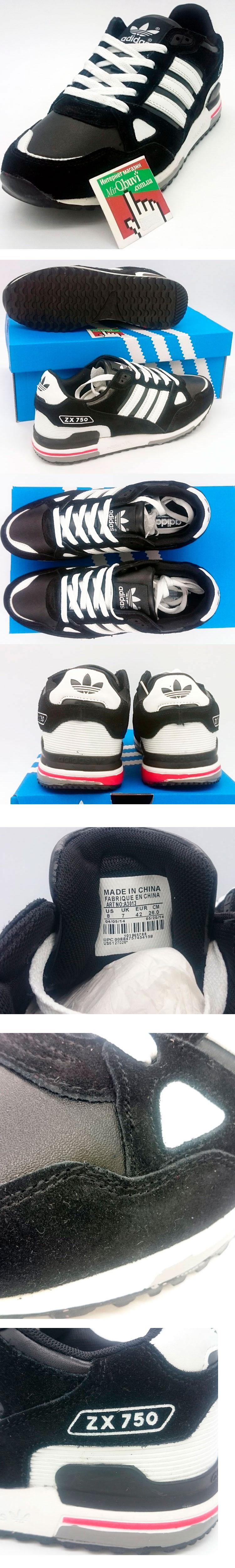 большое фото №5 Adidas ZX 750 черные (натуральная замша)