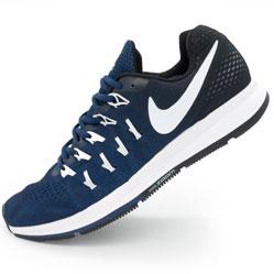 Мужские кроссовки для бега Nike Zoom Pegasus 33 черно-синие. Топ качество!
