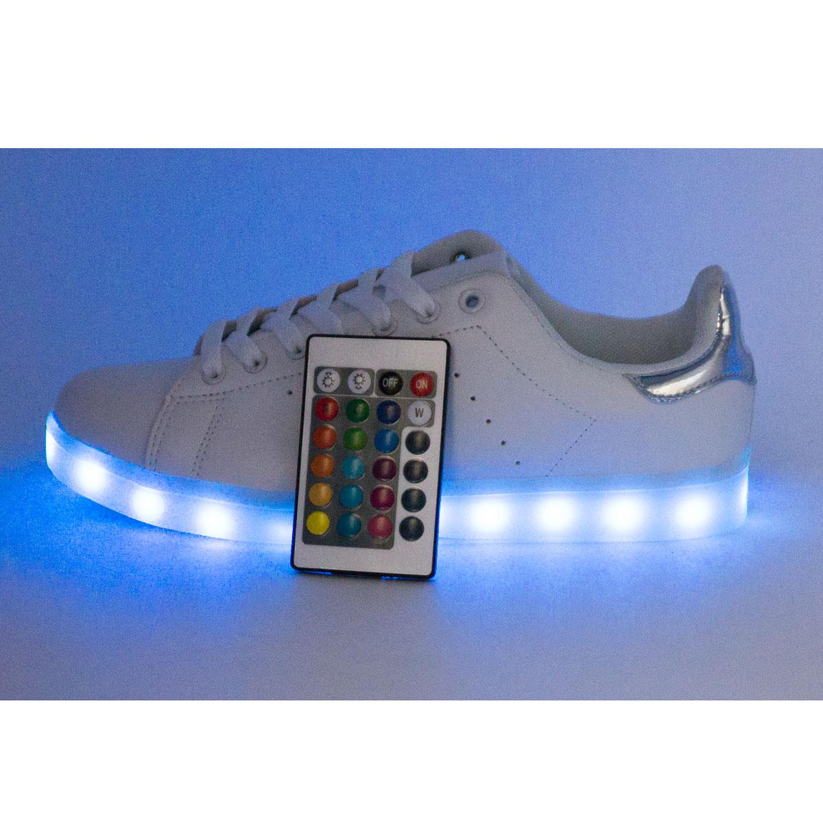 фото main Светящиеся кроссовки с пультом Led низкие белые Stan Smith main