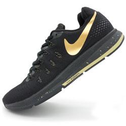 Мужские кроссовки для бега Nike Zoom Pegasus 33 черные-золото. Топ качество!