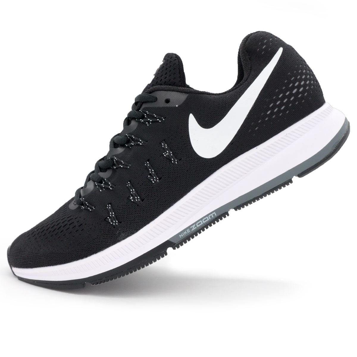 фото main Беговые кроссовки Nike Zoom Pegasus 33 черно-белые. Топ качество! main
