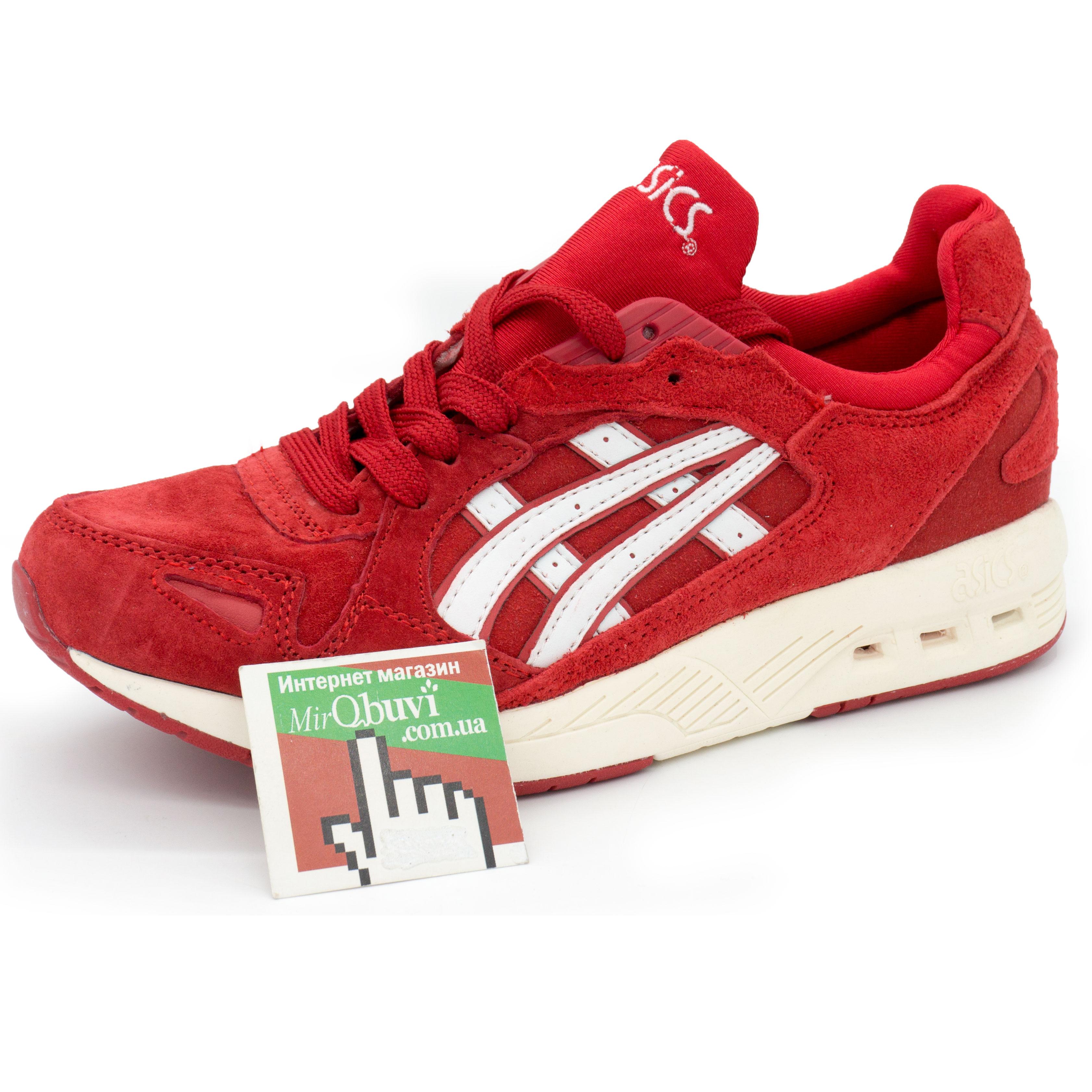 фото front Женские кожаные кроссовки Asics GT-Coolxpress красные. Топ качество! front