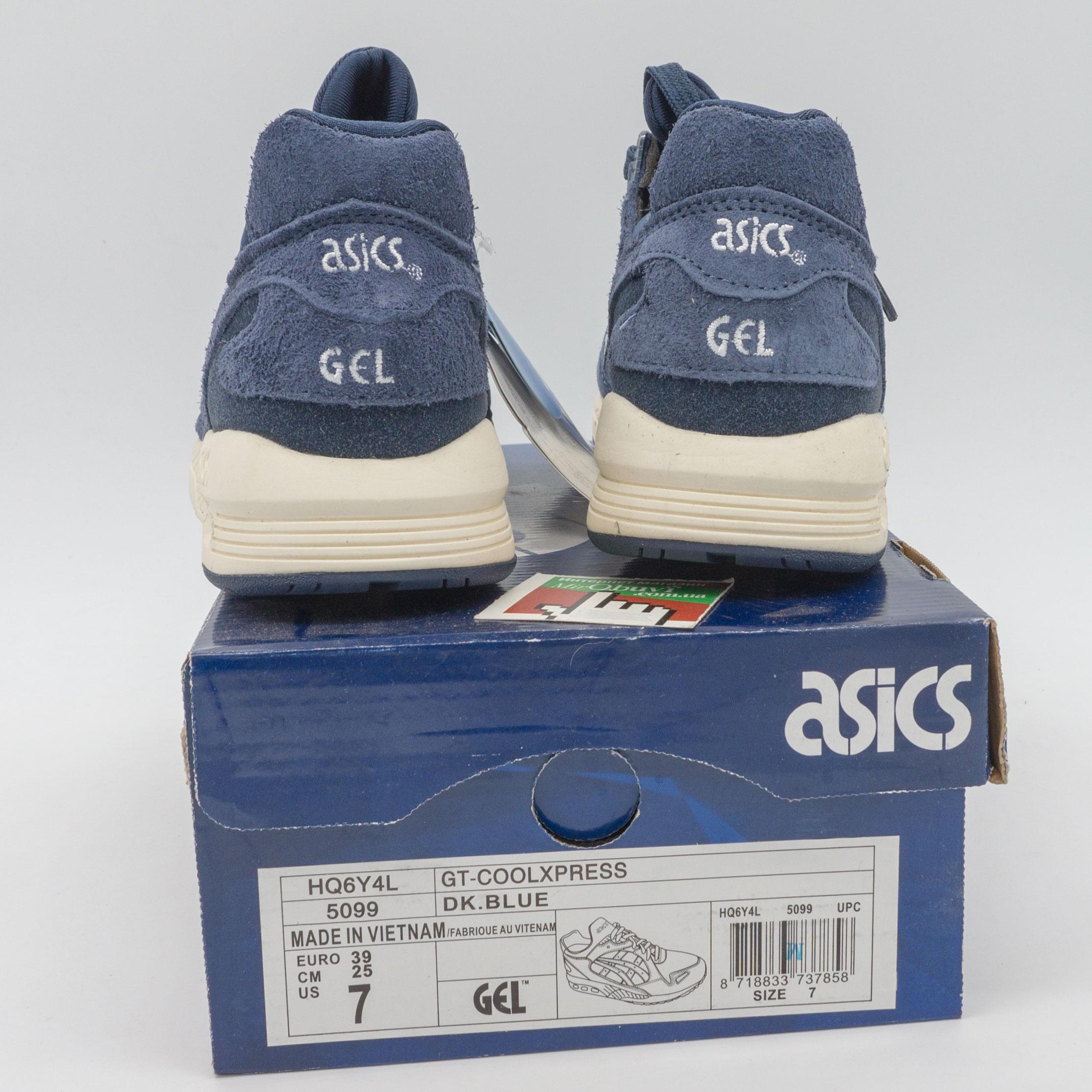фото bottom Женские кожаные кроссовки Asics GT-Coolxpress синие. Топ качество! bottom