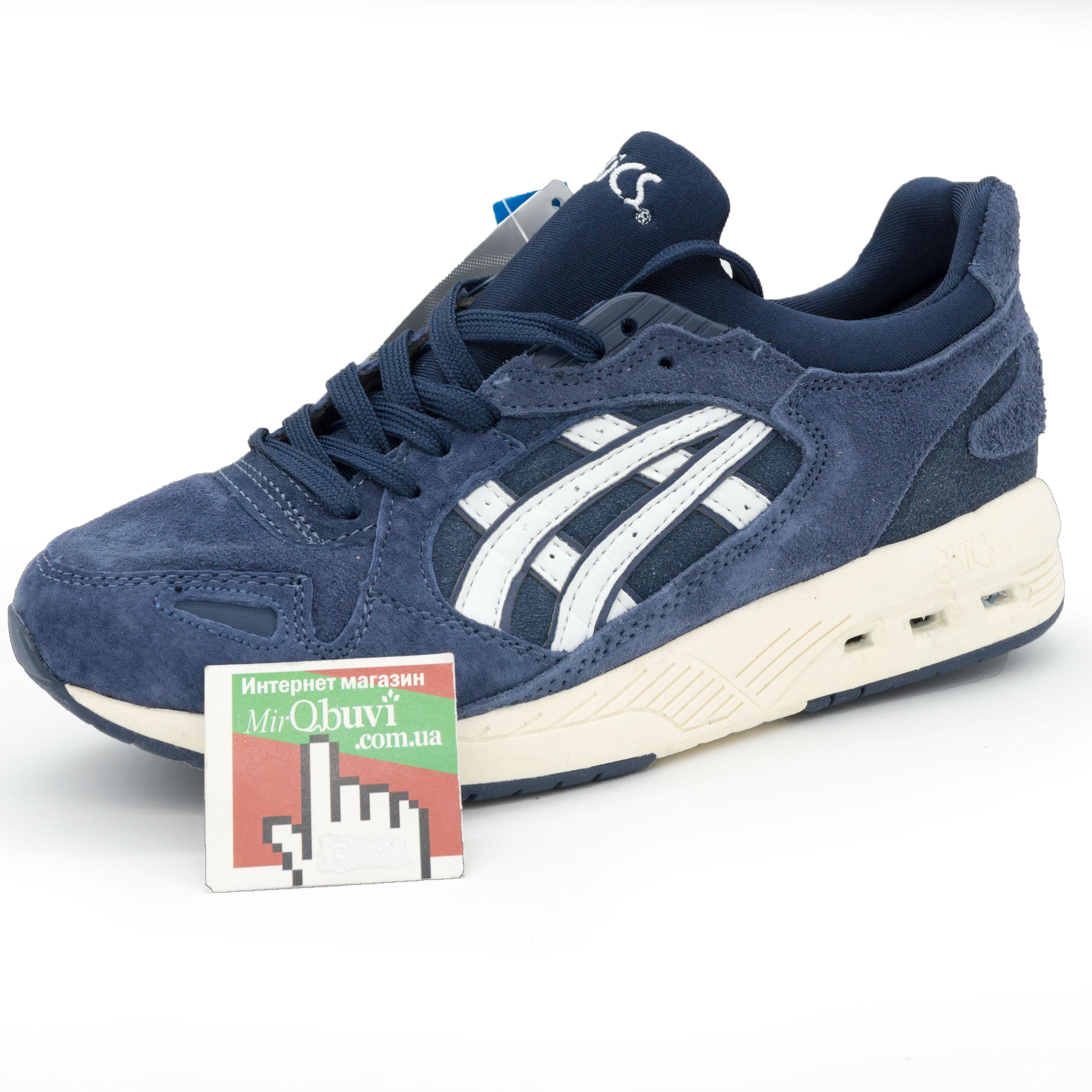 фото front Женские кожаные кроссовки Asics GT-Coolxpress синие. Топ качество! front