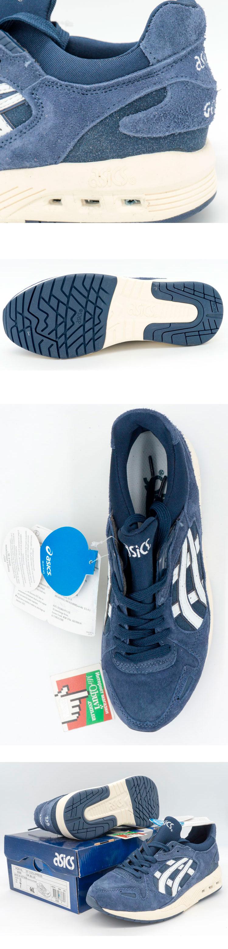 большое фото №5 Женские кожаные кроссовки Asics GT-Coolxpress синие. Топ качество!