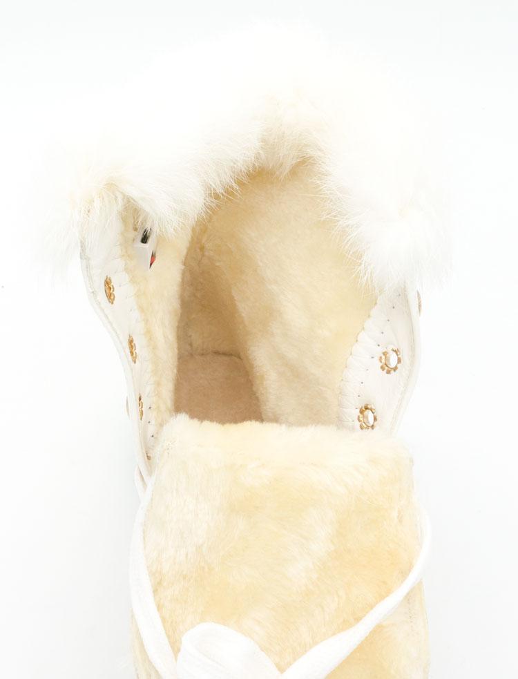 большое фото №5 Зимние светящиеся кроссовки Led на меху - белые с пультом