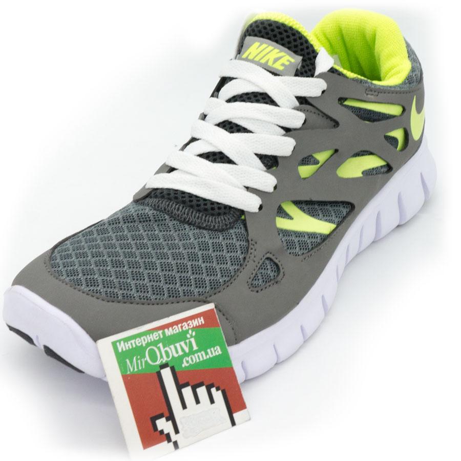 фото front Кроссовки для бега Nike Free Run 2 Найк Фри Ран, серо-белые front
