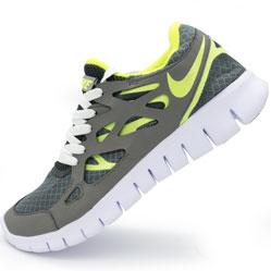 Кроссовки для бега Nike Free Run 2 Найк Фри Ран, серо-зеленые