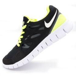 Кроссовки для бега Nike Free Run 2 Найк Фри Ран, черно-зеленые