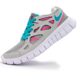Кроссовки для бега Nike Free Run 2 Найк Фри Ран, серебристые
