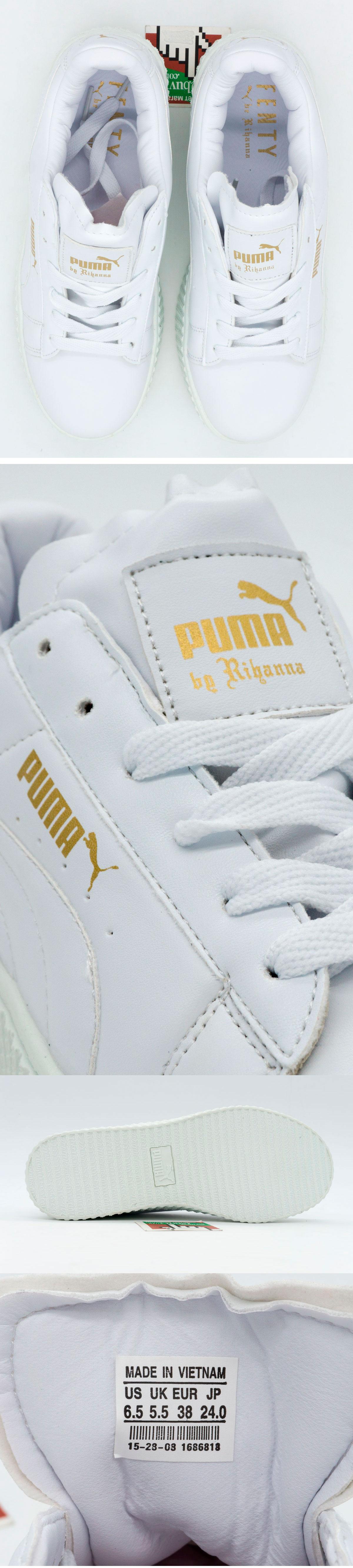 большое фото №6 Женские кеды Пума Рианна Puma Rihanna белые