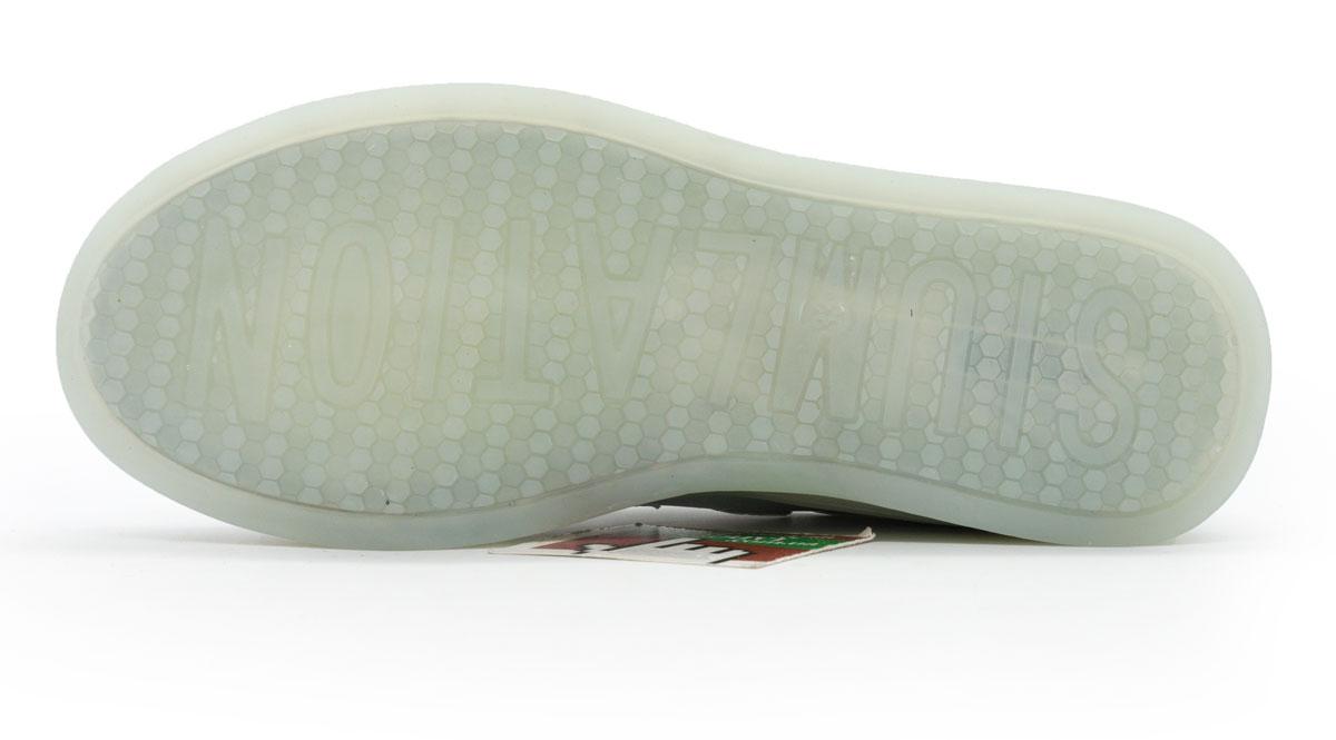 большое фото №5 Светящиеся кроссовки Led низкие серебристые на липучке