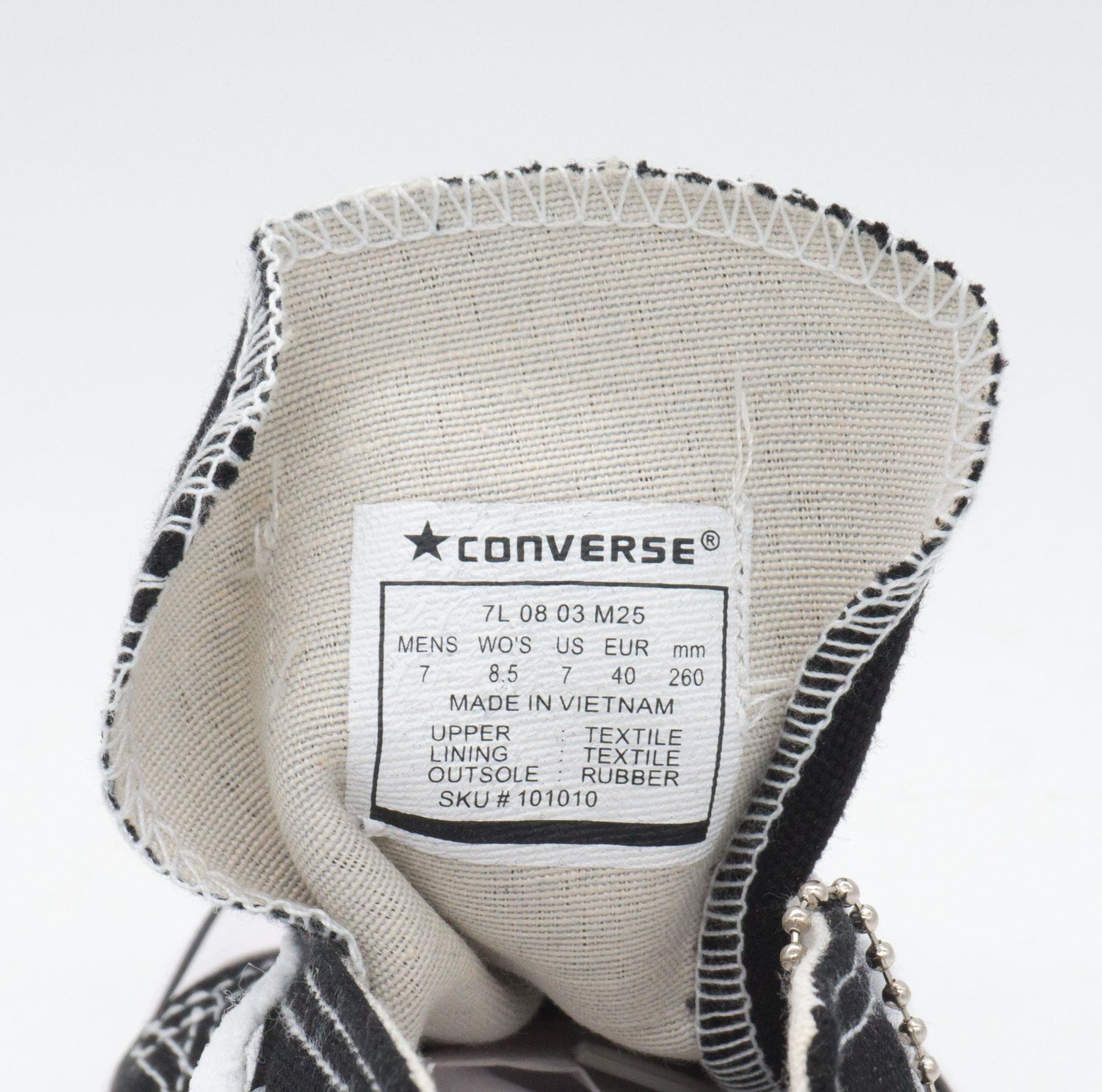 большое фото №5 Кеды Converse низкие черно-белые