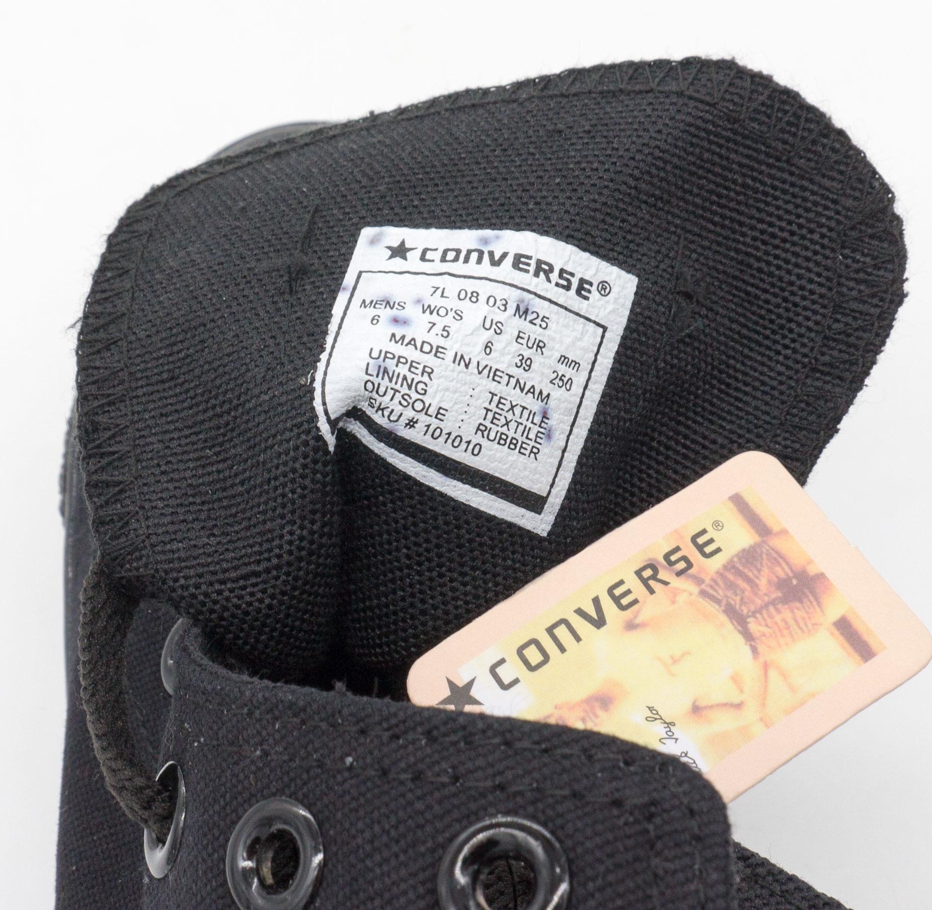 большое фото №6 Кеды Converse высокие полностью черные