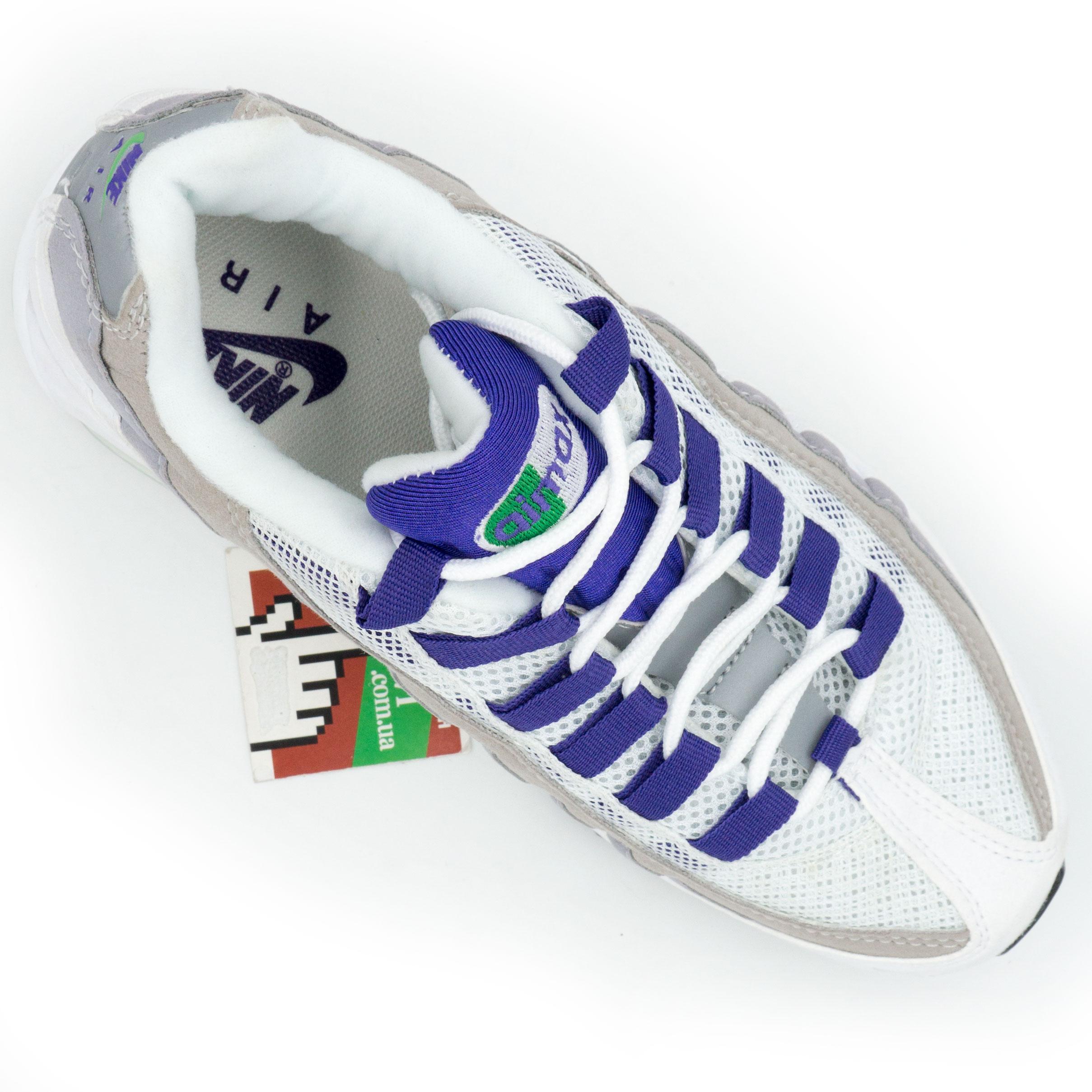 фото front Женские кроссовки Nike air max 95 бело-серо-фиолетовые. ТОП КАЧЕСТВО!!! front