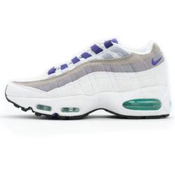 Женские кроссовки Nike air max 95 бело-серо-фиолетовые. ТОП КАЧЕСТВО!!!