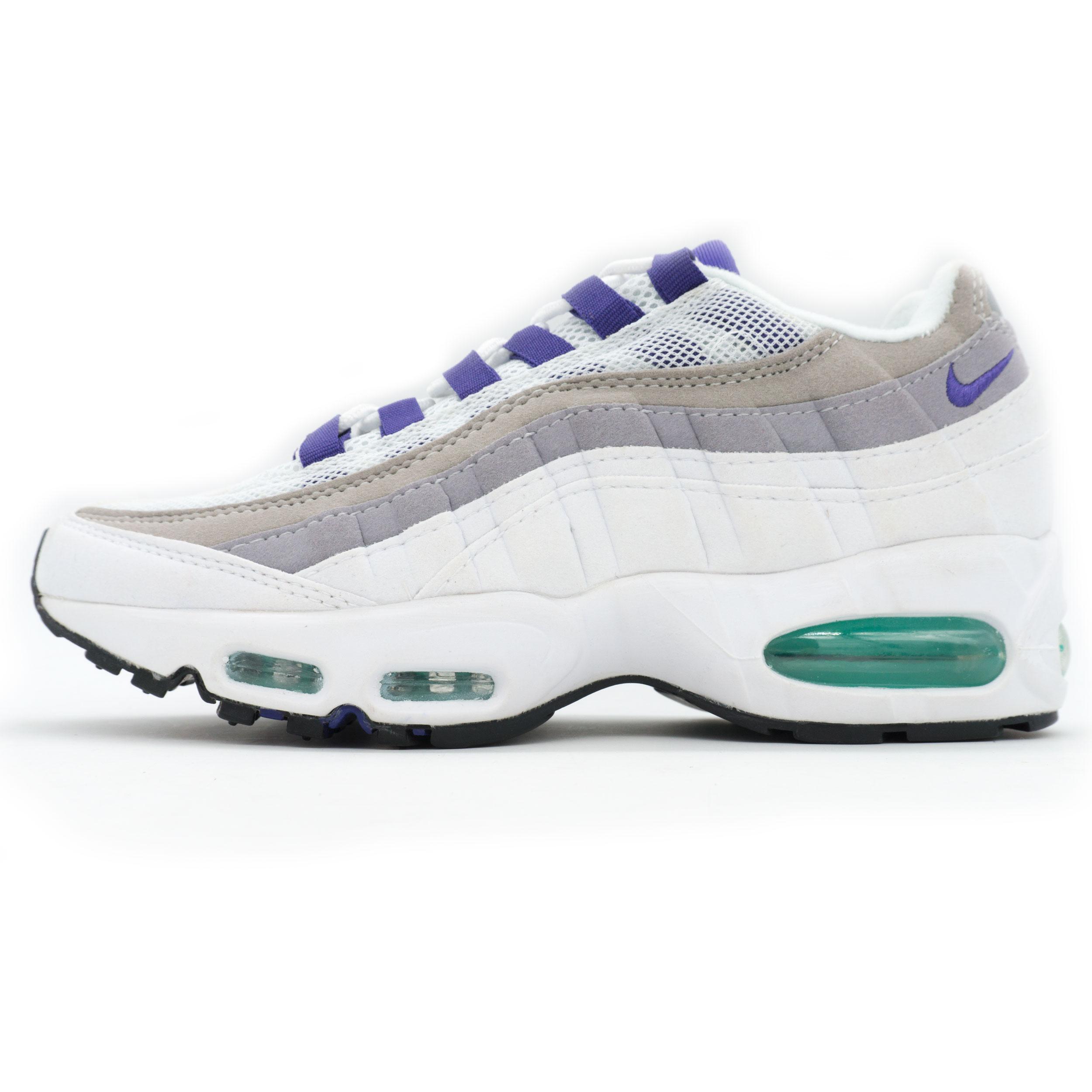 5b345367 Женские кроссовки Nike air max 95, купить бело-серо-фиолетовые аир ...