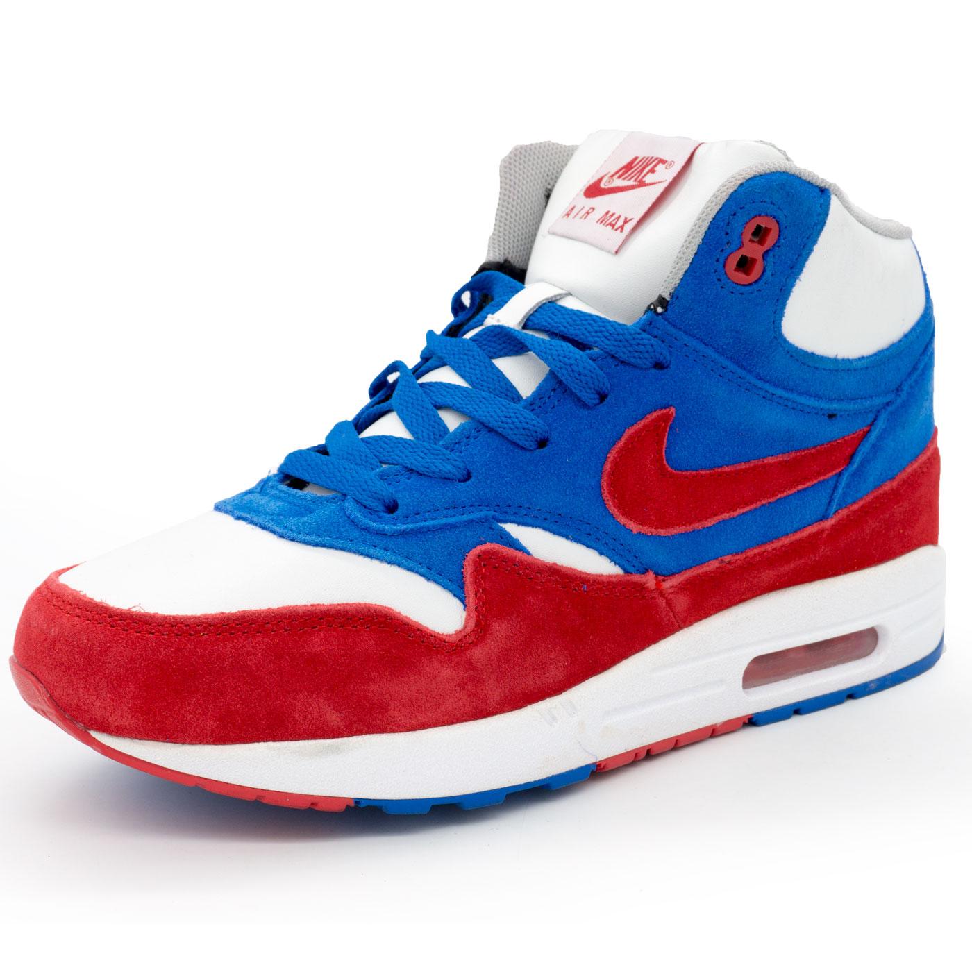 фото main Зимние кроссовки Nike air max 87 бело с мехом бело-сине-красные main
