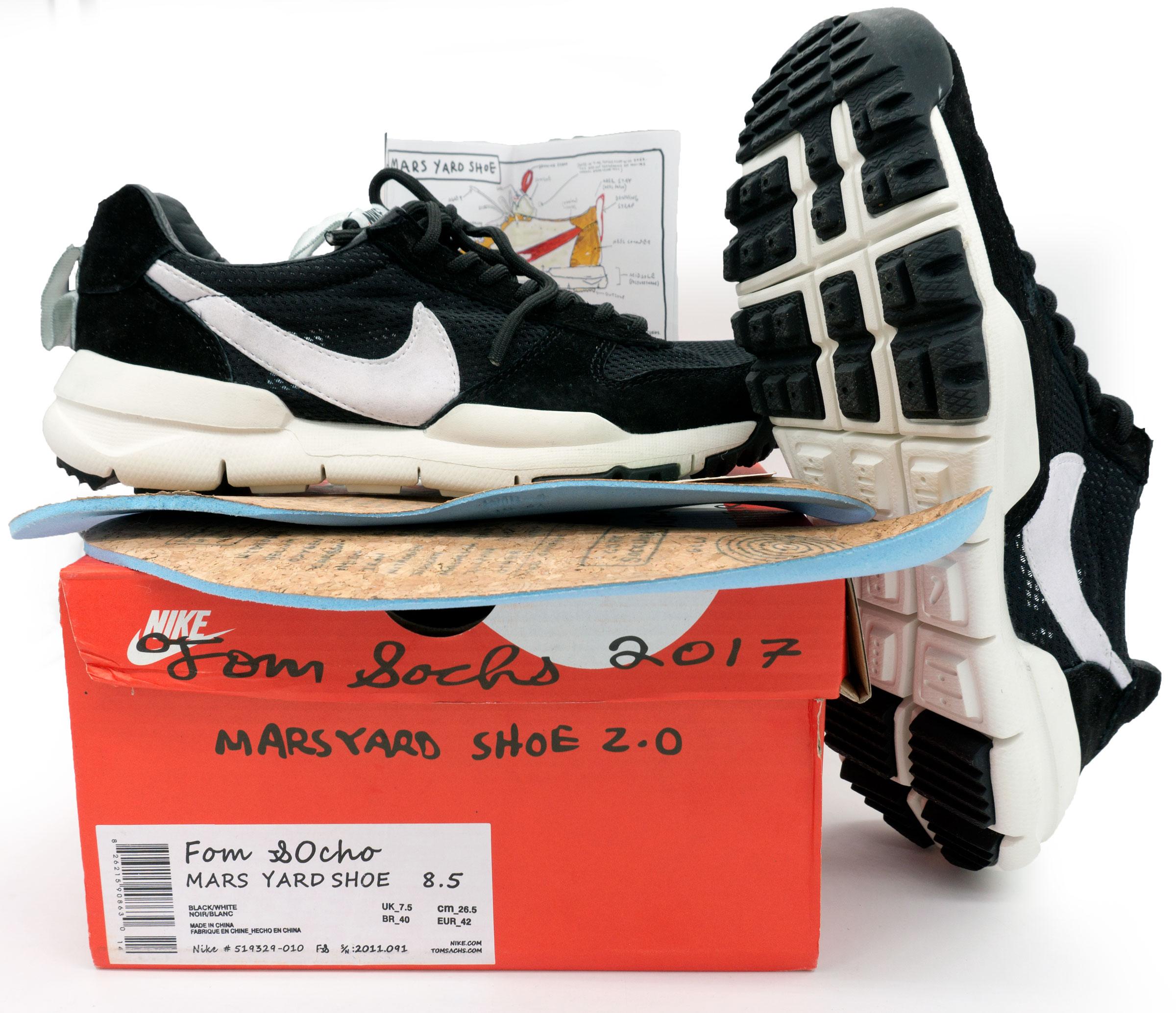 фото bottom Мужские кроссовки Nike Mars Yard 2.0 черно-белые. Топ качество! bottom
