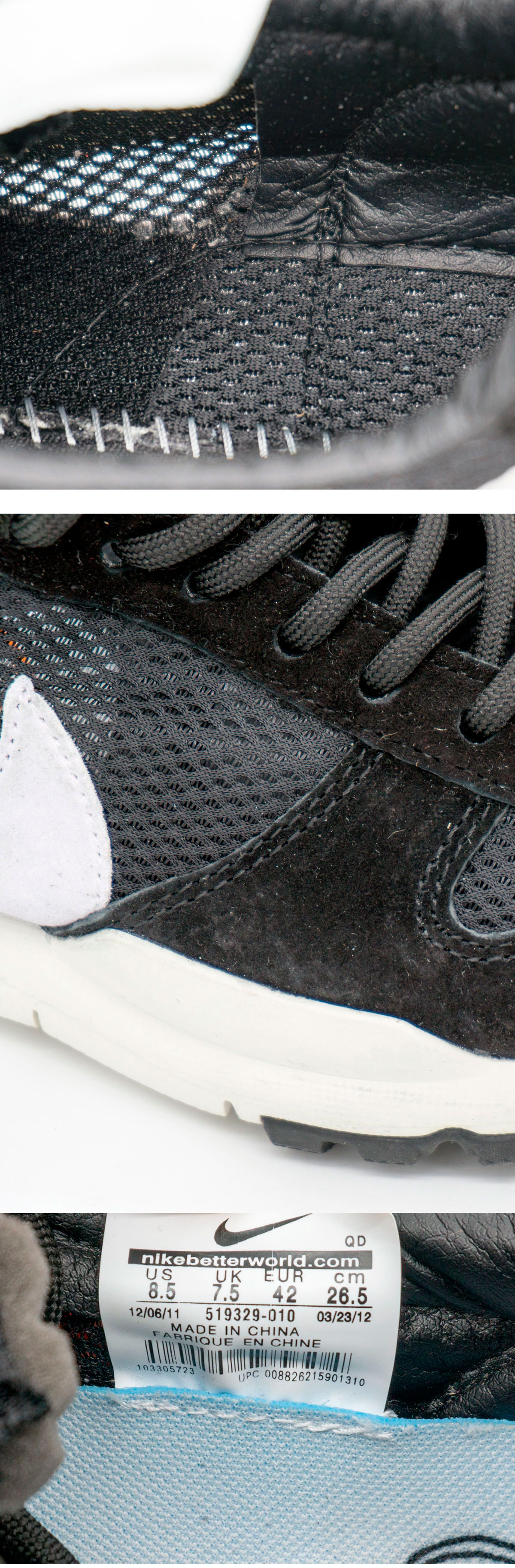 большое фото №5 Мужские кроссовки Nike Mars Yard 2.0 черно-белые. Топ качество!