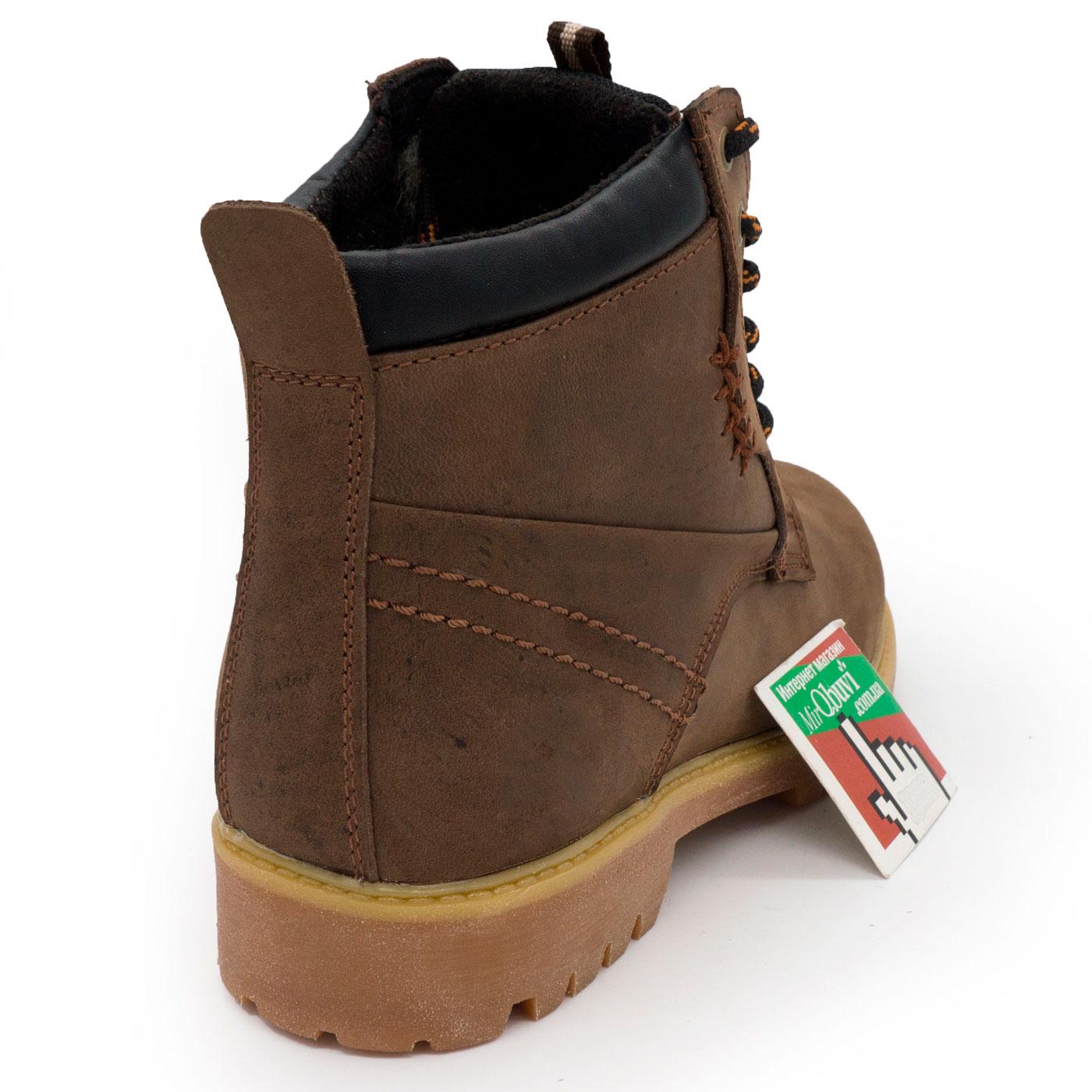 фото back Женские ботинки Реплика Timberland коричневые 101 (сделано в Украине) back