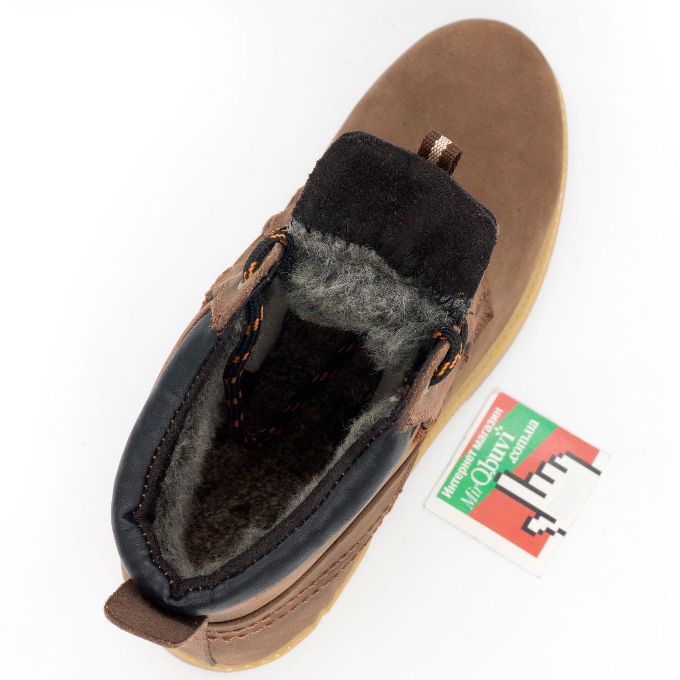 фото bottom Женские ботинки Реплика Timberland коричневые 101 (сделано в Украине) bottom