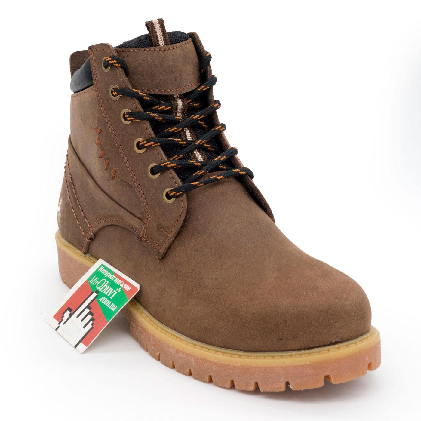фото front Женские ботинки Реплика Timberland коричневые 101 (сделано в Украине) front