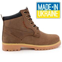 Женские ботинки Реплика Timberland коричневые 101 (сделано в Украине)
