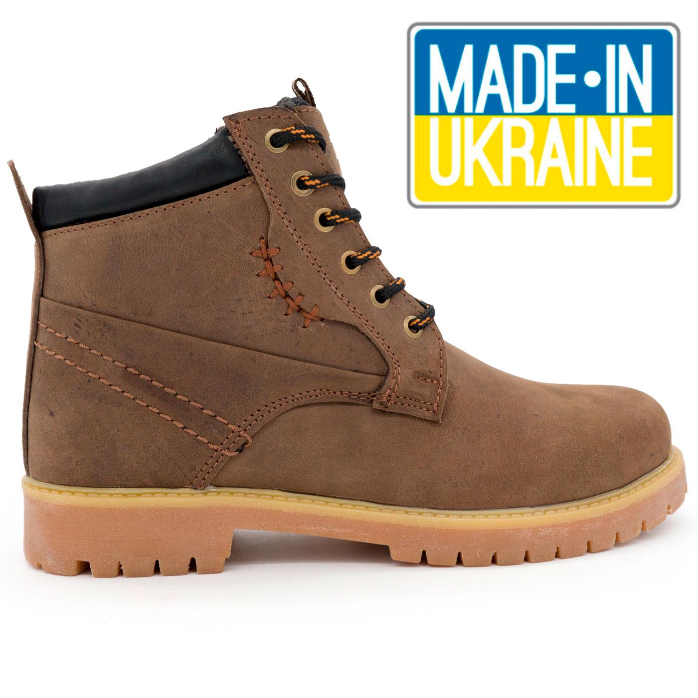 Женские ботинки Реплика Timberland коричневые 101 (сделано в Украине) 050e4e77c2d15