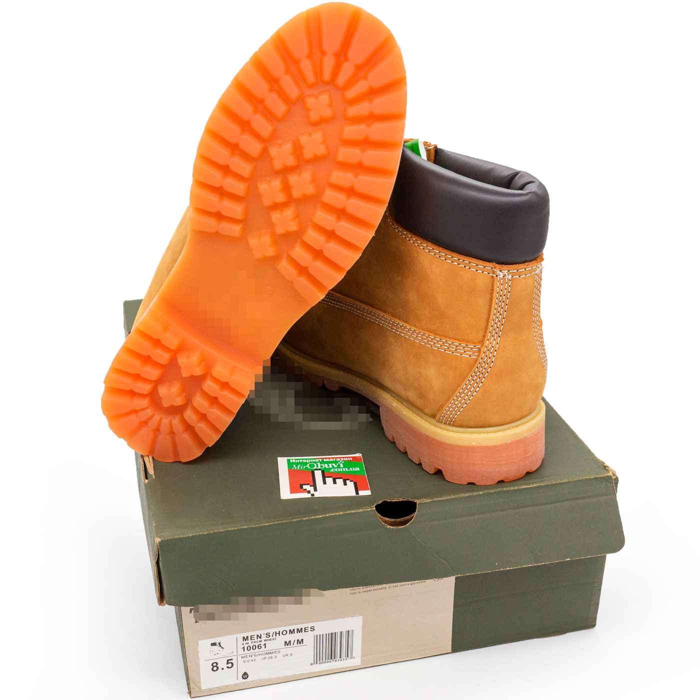 фото back Зимние ботинки Тимберленд 10061 c мехом - Реплика Топ качество! back