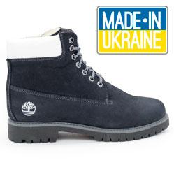 Синие ботинки Timberland 102 (сделано в Украине)