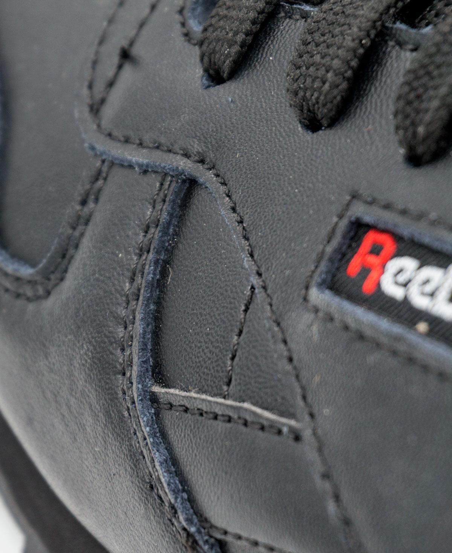 большое фото №5 Женские кроссовки Reebok classic leather black (Рибок класик черные, кожа)