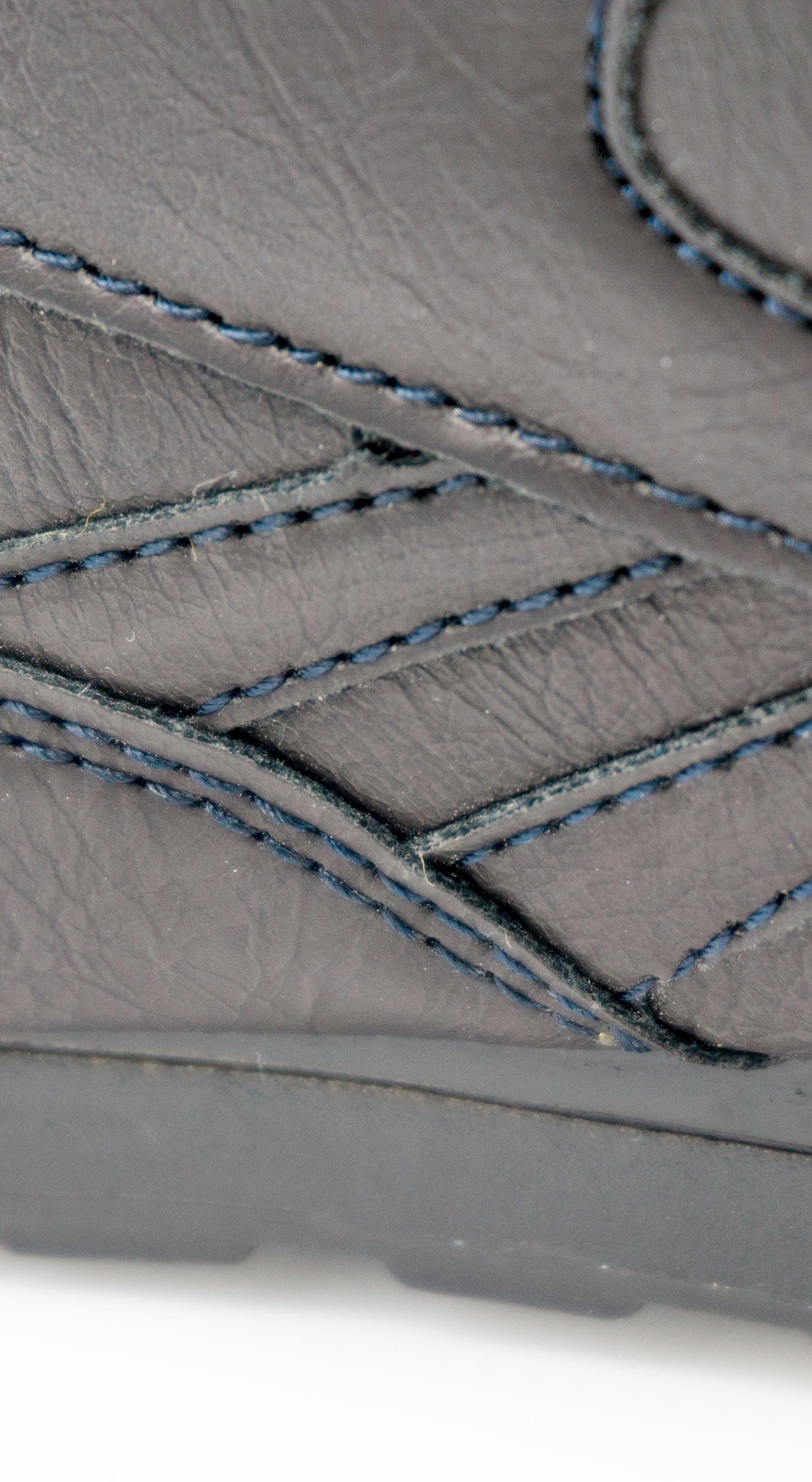 большое фото №5 Мужские кожаные кроссовки Reebok classic dark blue (Рибок класик темно синие, кожа)