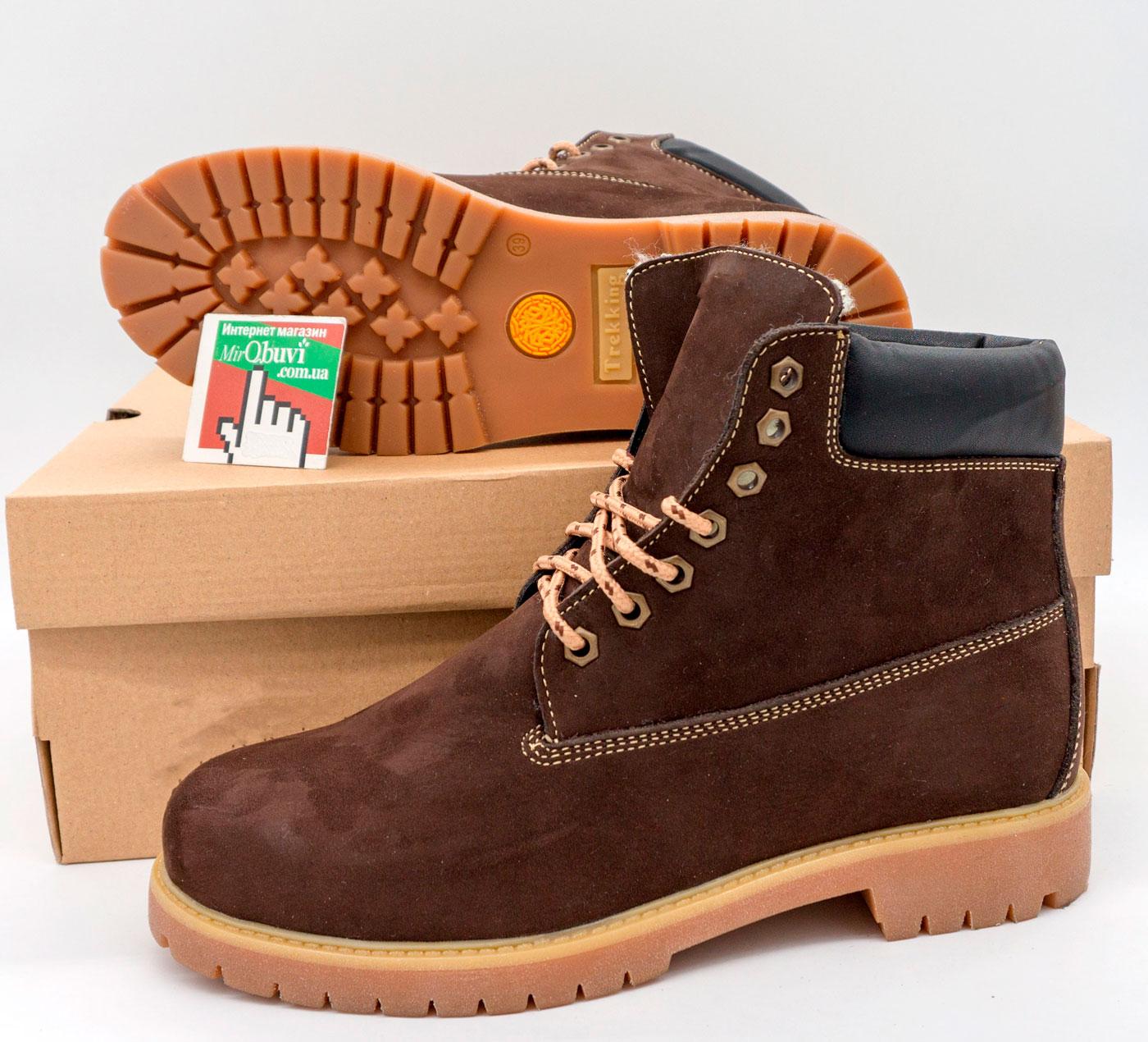 фото back Коричневые ботинки Реплика - Timberland 102 (сделано в Украине) back