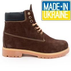 Коричневые ботинки Реплика - Timberland 102 (сделано в Украине)