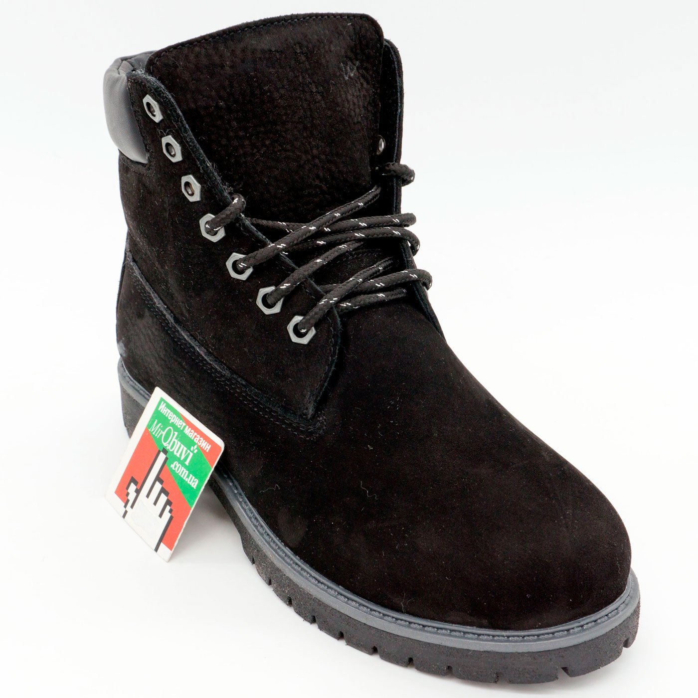 фото bottom Черные ботинки Реплика Timberland 102 (сделано в Украине) bottom
