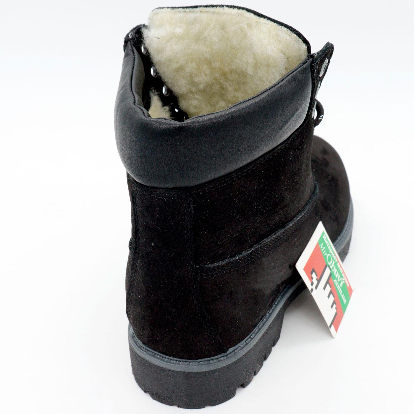 фото front Черные ботинки Реплика Timberland 102 (сделано в Украине) front