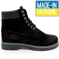 Черные ботинки Реплика Timberland 102 (сделано в Украине)