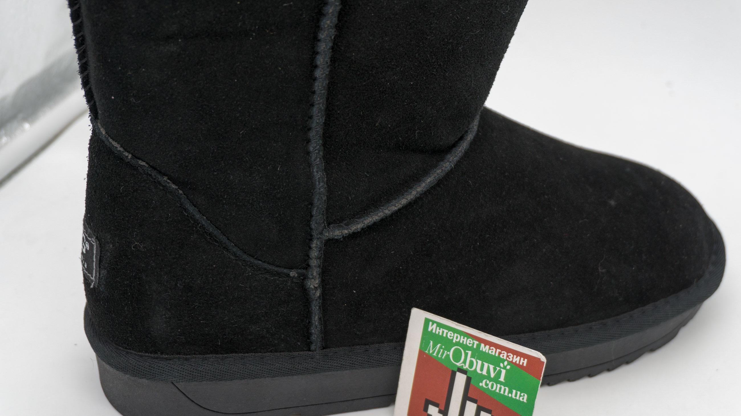 большое фото №6 Высокие зимние мужские UGG (Уги) черные замша.