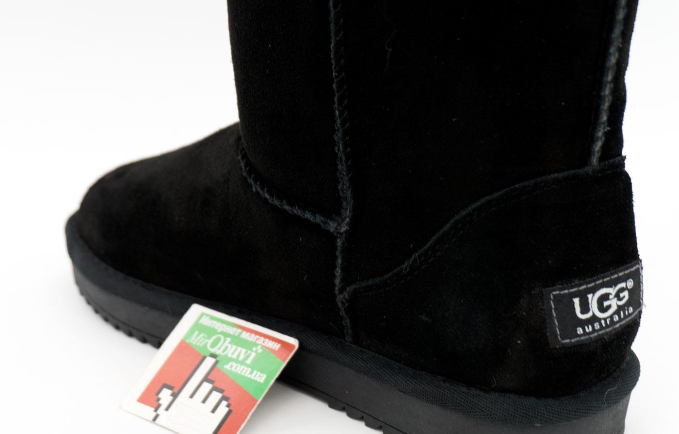 большое фото №6 Высокие зимние женские UGG (Уги) черные замша.